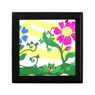 Blumen und Frösche Erinnerungskiste