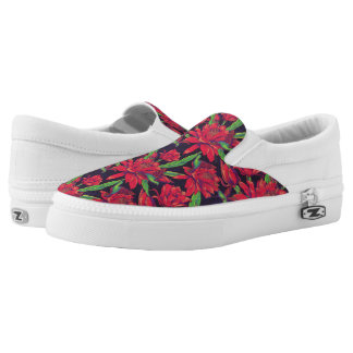Blumen und Kolibris Slip-On Sneaker