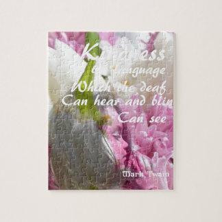 Blumen und Mitteilung über Güte Puzzle