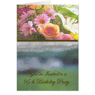 Blumen und Nebel-95. Geburtstag Karte