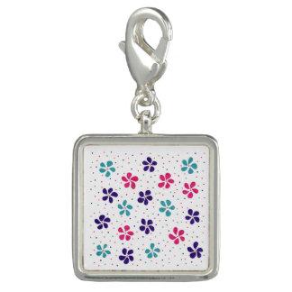 Blumen und Punkt-Muster Foto Anhänger