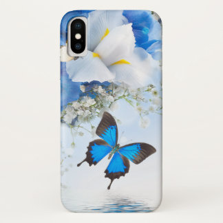 Blumen und Schmetterlinge iPhone X Fall iPhone X Hülle