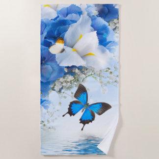 Blumen und Schmetterlings-Badetuch Strandtuch