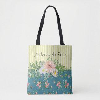 Blumen und Streifen Tasche