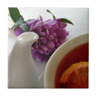 Blumen und Tee Keramikfliese