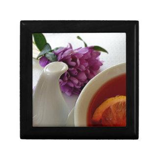 Blumen und Tee Schmuckschachtel