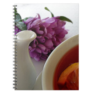 Blumen und Tee Spiral Notizblock