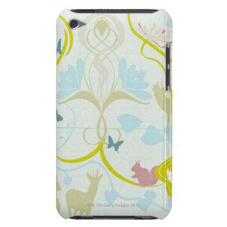 Blumen und Tiere Barely There iPod Case