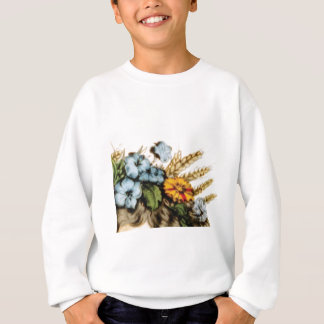 Blumen und Weizen Sweatshirt