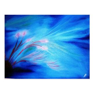 Blumen unter dem Wasser - Anfang des Frühlinges Postkarte