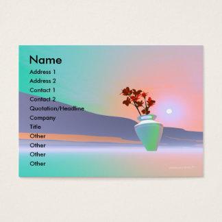 Blumen-Vase - Chubby Visitenkarte