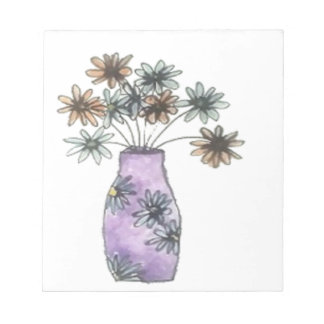 Blumen-Vase Notizblock