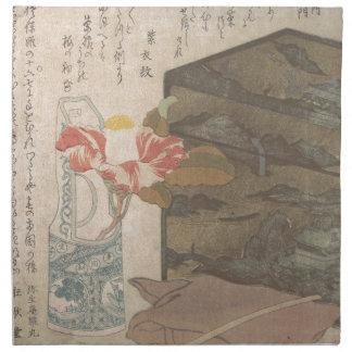 Blumen-Vase und Lack-Kasten - Chinese Serviette