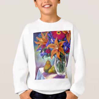 Blumen-Vasen-Birnen, die Kunst - multi malen Sweatshirt