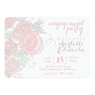 Blumen-Verlobungs-Party Einladung
