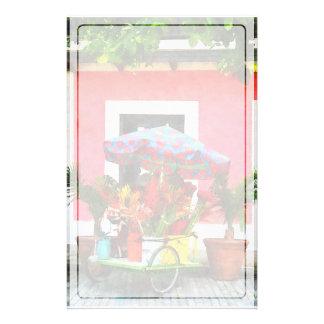 Blumen-Wagen San Juan, Puerto Rico Briefpapier