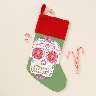 Blumen-Zuckerschädel-WeihnachtsStrumpf Weihnachtsstrumpf