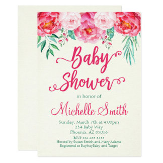 BlumenBabyparty-Einladung, Babyparty laden ein Karte