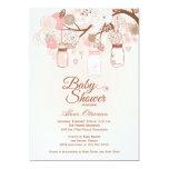 BlumenBabypartyeinladung des schicken rosa Personalisierte Einladungskarte