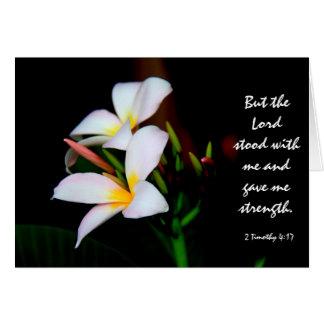 BlumenBeileid, Scripture-Vers auf der Stärke des Karte