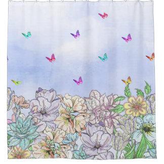 Blumenbett-Duschvorhang Duschvorhang