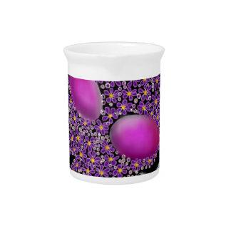 Blumenblasen-Schädel Getränke Pitcher