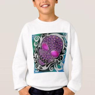 Blumenblasen-Schädel Sweatshirt
