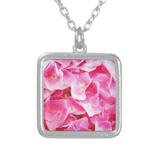 Blumenblatt-Blumen-Rosen-Rosa-Liebe-weiches Gesche Versilberte Kette