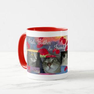 Blumenblatt-Feder-Kordsamt und Mercedes-Tasse Tasse
