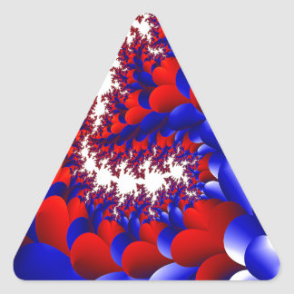 Blumenblatt mit einer Drehung Dreieckiger Aufkleber