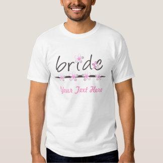 Blumenblatt-rosa Brautt-shirt Hemden