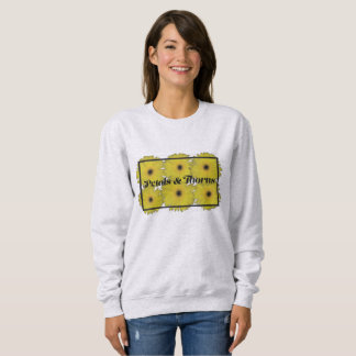 Blumenblätter u. Dornen-Sweatshirt Sweatshirt