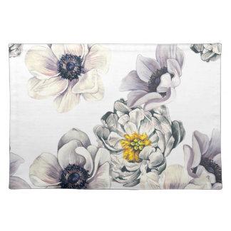 BlumenBlumen-Pfingstrosen-Anemonen-neuer Frühling Stofftischset
