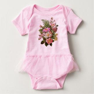 Blumenblumenstrauß Baby Strampler