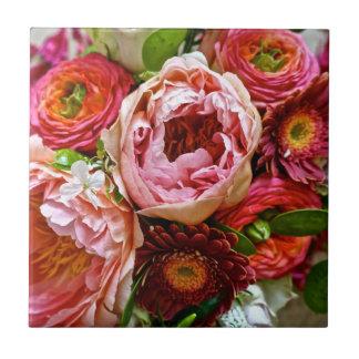 Blumenblumenstrauß, Keramik-Fliesen Kleine Quadratische Fliese