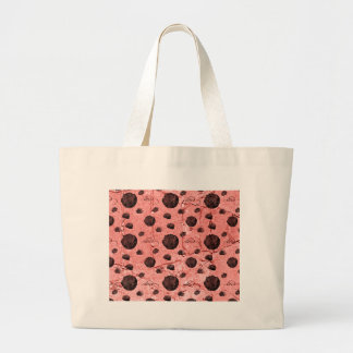 Blumenbrauner Steinkaffee PrintedOnStone Rose Einkaufstaschen