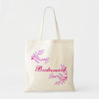 Blumenbrautjungfern-Hochzeits-Taschen-Tasche Budget Stoffbeutel