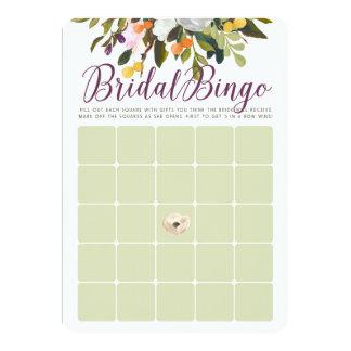BlumenBrautparty-Bingo-Karten im lila Salbei Karte
