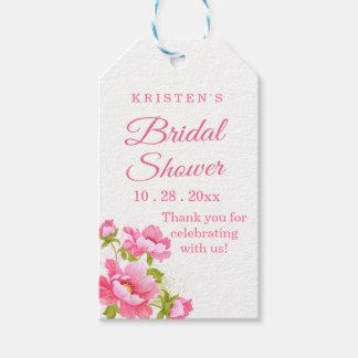 BlumenBrautparty danken Ihnen rosa Geschenkanhänger