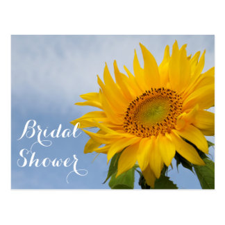 BlumenBrautparty-Sonnenblume-blaue gelbe Blume Postkarte