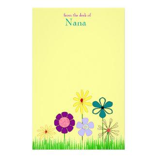 Blumenbriefpapier Briefpapier
