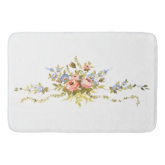 Blumenbürsten-Rokokos, die romantisches elegantes Badematte