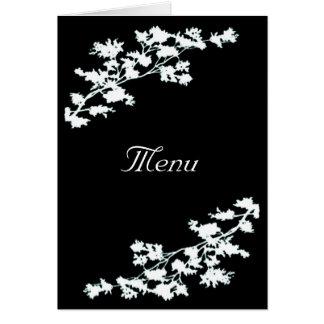 BlumenDeko, der Menü-Karte Wedding ist Grußkarte