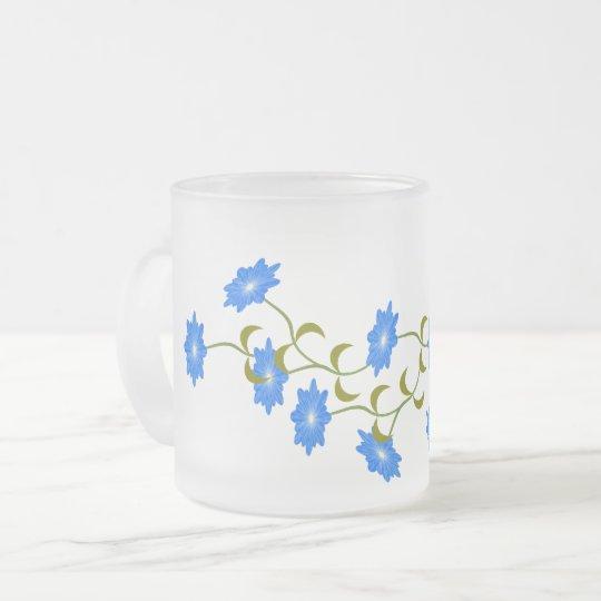Blumendekor Mattglastasse