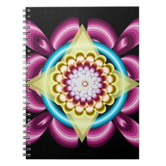 Blumendrehbeschleunigungen Spiral Notizblock
