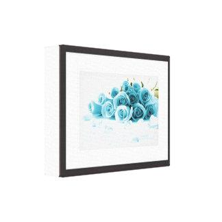 Blumendruck im Schwarzweiss-Rahmen Leinwanddruck