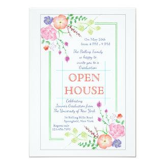 Blumenecken-Einladung 12,7 X 17,8 Cm Einladungskarte