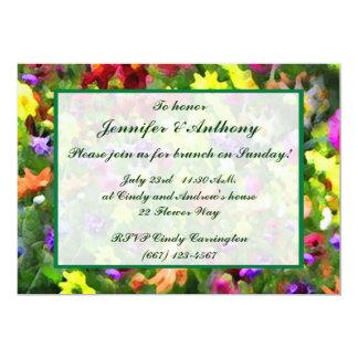 Blumeneindrücke, die Brunch Wedding sind 12,7 X 17,8 Cm Einladungskarte