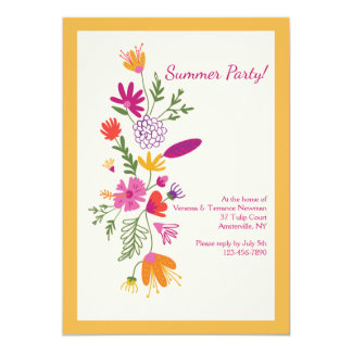 Blumeneindrucks-Einladung 12,7 X 17,8 Cm Einladungskarte