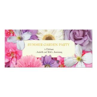 Blumeneinladung 10,2 X 23,5 Cm Einladungskarte